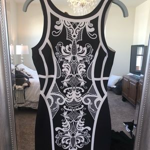 Francesca's body con style printed dress